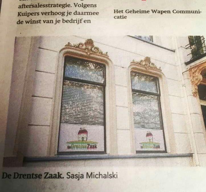 Publicatie in de krant
